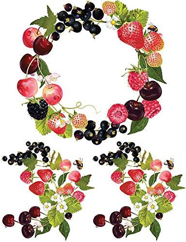 Find Discount Dress My Craft Fabric Transfer Sheet 24X34cm-Fruit, Fruit Wreath