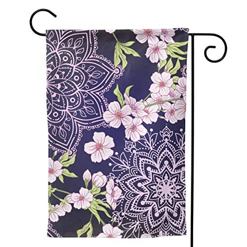 Nonebrand F Cherry Blossoms Both Sides Printed Garden Banner Backyard Home Decoration Banner 12.5'X18'