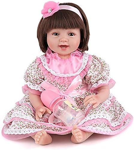 BABYY Sü Sammlung Wiedergeborene Babypuppen 22 Zoll   55cm mädchen Wiedergeborenes Baby mit    Echt Gewichtet Wiedergeborene Puppe Weiß Karosserie Spielzeug zum mädchen Alter 3+