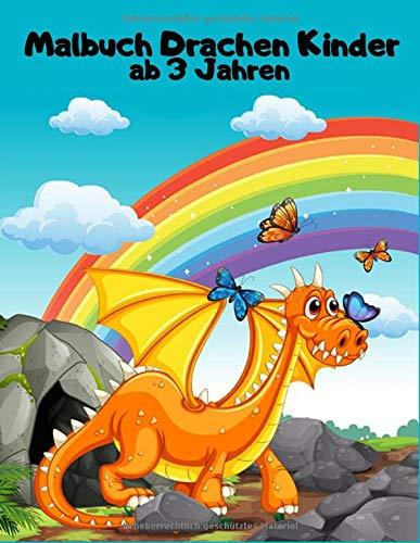 Malbuch Drachen Kinder ab 3 Jahren: Einseitig 90 einzigartige Drachen Ausmalbilder für Kinder. Lernen Tier Spaß Fakten Buchgröße 8,5 x 11 Zoll (Drachen Malbuch Kinder Band 9)