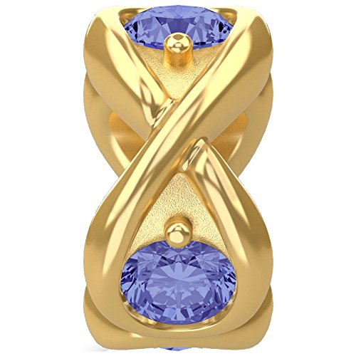 Endless Jewelry INFINITY OCEAN Element Silber vergoldet mit Zirkonia 51351-2