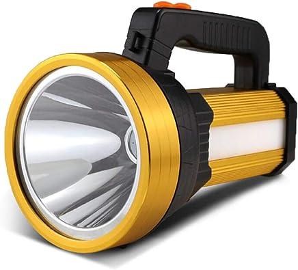 HUANGLP LED-Außenleuchte LED-Außenleuchte LED-Außenleuchte Super helle Wasserdichte Taschenlampe Notlicht Dritter Gang, der 7000 Lumen Scheinwerfer verdunkelt Aufladbare Blendung Totale Tragbare Leuchte,Gold B07K9GX76V     | Wirtschaft  69273e