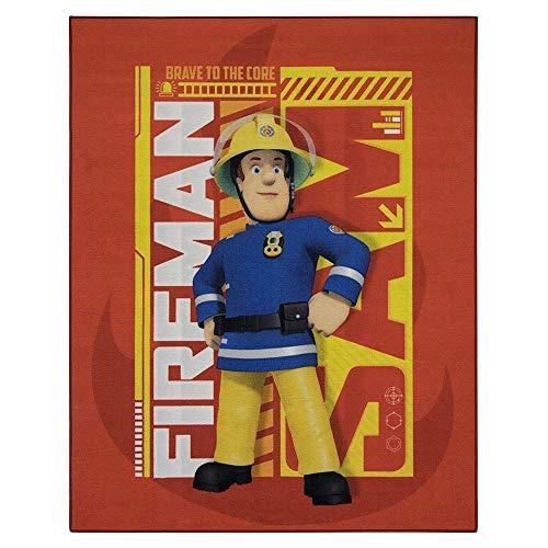 Guizmax Kinderteppich Feuerwehrmann Sam, 95 x 125 cm