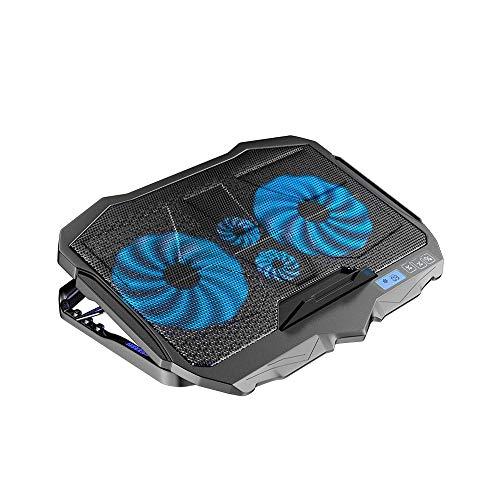 XUERUIGANG Almohadilla de enfriamiento de la computadora portátil, refrigerador para portátiles de juego con 4 ventiladores para portátil portátil de hasta 18 pulgadas Portátil...