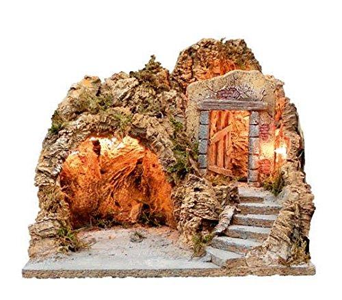 Ciesse Grotta Artigianale In Legno E Sughero ILLUMINATA L35XP25XH30