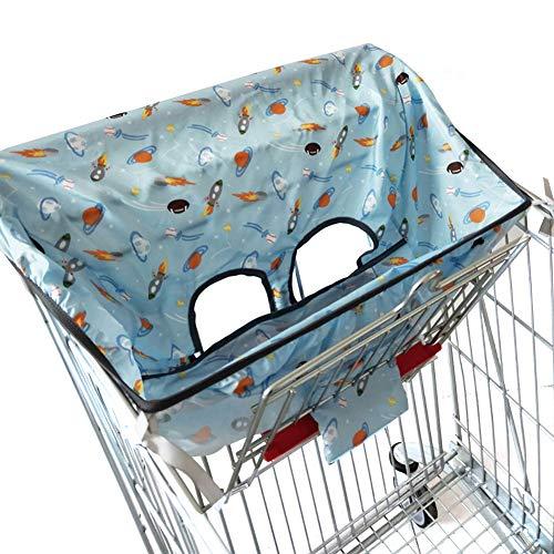 AODOOR Einkaufswagen Abdeckung, Schutzbezug für Einkaufswagen-Sitz und Hochstühle, Outbit Sitzkissen für Baby-Esszimmerstühle, für bietet Ihrem Baby optimalen Schutz und Hygiene Beim Ausgehen