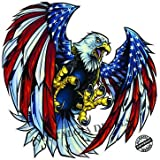 Screaming American Flag Bald Eagle Wings Large 18' Decal in The United States