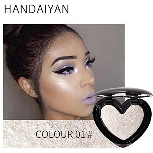 Cooljun 3D Shimmer Poudre Highlighter Palette Face Base Base Illuminator Maquillage bronzers Highlight Contour Silver Golden (A)