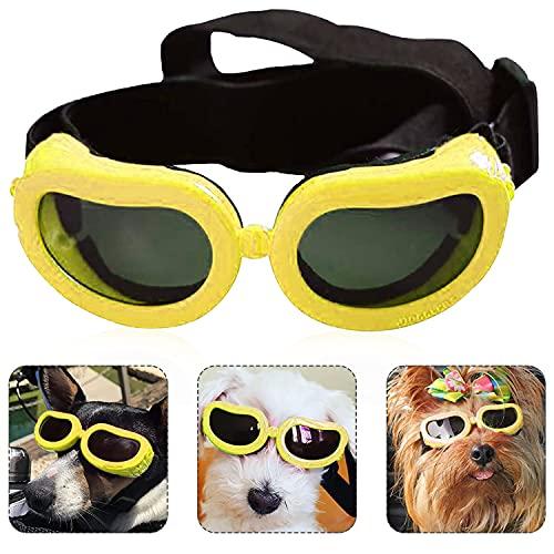 Haustier Hund Sonnenbrille, UV Sonnenbrillen für Hunde, Sonnenbrillen für Hunde, Hunde Sonnenbrille Verstellbarer, Sonnenbrille für Katzen, Sonnen und Windschutz, Schutz für die Augen