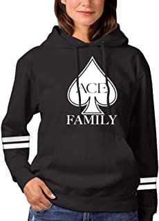 Vchat Women's Ace Family Pullover Hoodies Long Sleeve Hooded Sweatshirt