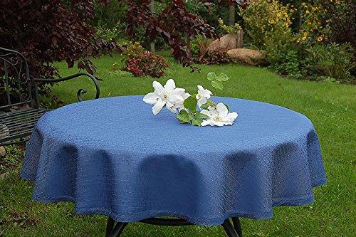 ODERTEX Garten-Tischdecke mit ACRYL Muster, Form und Größe sowie Farbe wählbar blau Rustikal