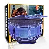 KangYD Tambor tocador de luz nocturna 3D, lámpara de noche de ilusión LED, regalo para niños, E - Base para despertador (7 colores), Luces de colores, Lámpara de ilusión óptica, Regalo para niño