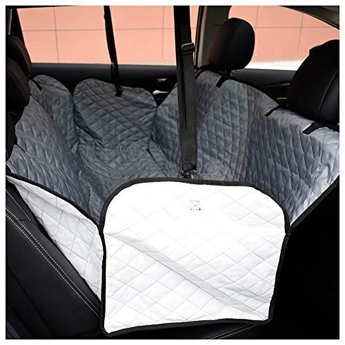 MMGGG Hund Autositzbezug Rücksitzbezug wasserdicht rutschfest - Mit Seitenklappen 2 in 1 Hund Hängematte/Sitzschutz Geeignet für die meisten Autos SilverB