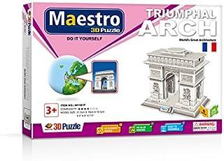 Maestro 120100 ARCO DE TRIUNFO-40 PCS-TAMAÑO MONTADO: 21.5CM X 15CM X 19.5CM 3D Puzzles, Multicoloured