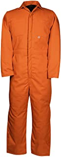 Blaze Safety Orange Hunting, Work, and All Purpose Big and Tall Insulated Coveralls Quilt Lined to 5XT Made in Canada