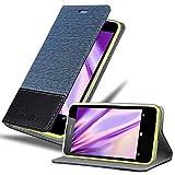 Cadorabo Hülle für Nokia Lumia 630 in DUNKEL BLAU SCHWARZ - Handyhülle mit Magnetverschluss, Standfunktion & Kartenfach - Hülle Cover Schutzhülle Etui Tasche Book Klapp Style
