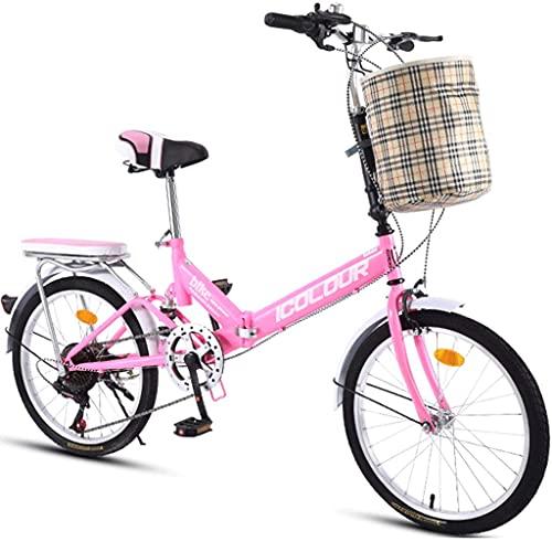 Bicicletas Plegables Bicicleta Deportiva con Canasta Velocidad Variable Hombre Y Mujer Bicicleta...