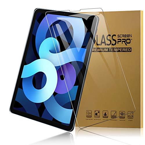 TOPACE 2 Stück Panzerglas für iPad Air 4 2020(10.9 Zoll) /iPad Pro 11 2020/iPad Pro 11 2018 Schutzfolie, [Komptibel mit Apple Pencil] 9H Festigkeit Ultra-HD Vollschutz-mit Ultra-Stärke Glas Bildschirmschutz