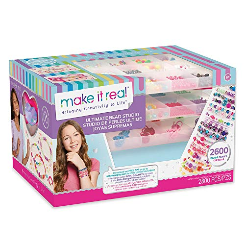 Make It Real Deluxe Beads Set (2.700 Pieces), Multicoloured, 1701