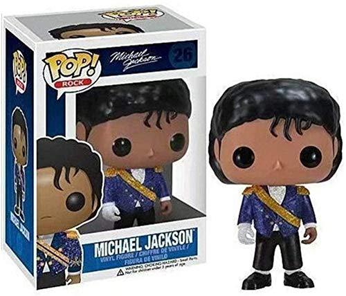 TIRIXEN FUNKO POP MICHAEL JACKSON VINYL FIGURINE 10 CM Art Souvenir Collectic Toy Anime Puppets Standbeelden-B