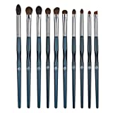 ENERGY Eye Makeup Brush Set Professional Eyeshadow Brush Set 10pcs Make Up Brush Kit for Eye Shader,Eyeliner,Eye Blending,Eye Defining,Eye Brow,Eye Smudged-Nature Hair(Starry Blue)