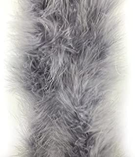 Celine lin 1PC 2yards/Length Dyed Fluffy Feather Boa Loose Turkey Marabou Feather for Party/Costumes/Shawl/Wedding/Home Decorations,Grey