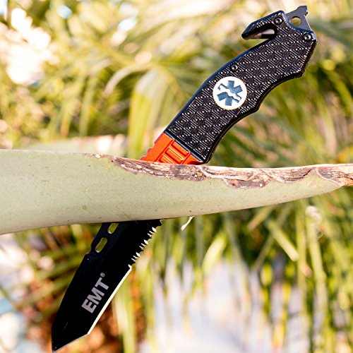 Under Control Tactical Best EMT Folding Knife with Easy Spring Assisted Opening Idea & Not Found in Stores!