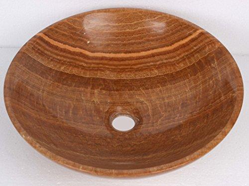 Giallo Marrone Legno Effetto Pietra Marmo bacino lavabo bagno 35cm x 12cm (b0058)
