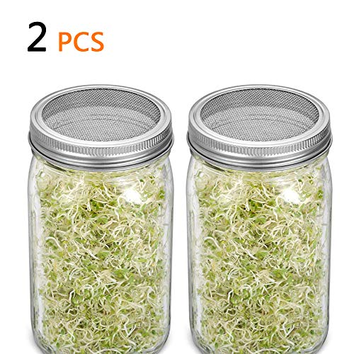 Safe Seeds Planting Sprouting Lid Bottles Mesh Cover for Wide-mouthed Mason Jar