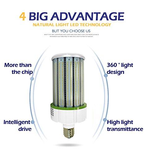 100Watt LED Corn Light Bulbs 12000lumen (600 to 700W Equivalent) Large Mogul Screw E39 Base Daylight 5000K LED Retrofit Lamp,360 Degree Flood Light, Replacement for Metal Halide Bulb, HID, CFL, HPS