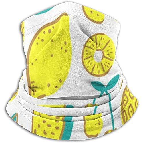 Scaldacollo in pile: tubo per ghette giallo limone, bandana, fascia per capelli, berretto