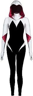 Gwen Stacy Cosplay Costume Halloween Spider Cosplay Hoodie Full Set Suit