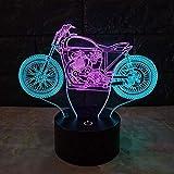 Lámpara de Mesa Creativa para Dormitorio Lámparas de Escritorio LED de Carga táctil de Siete Colores Doble Color Rub Car 3D Visual Christmas Night Light