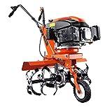 Fuxtec Motobineuse Thermique FX-AF1139 Set Motoculteur Essence Moteur 4 Temps 139cm3 2,2kW avec Extension De La Largeur De Travail De 36 à 66cm Cultivateur Profondeur Réglable Jusqu'à 30cm