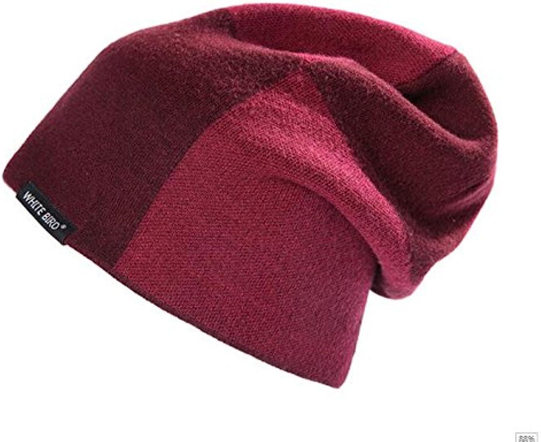 KYXXLD Wool hat man winter Plush plus wool cap knitted hat