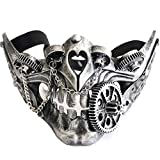 Storm buy] Steampunk Style Metallic Half Bottom Face Mask Halloween Costume Cosplay