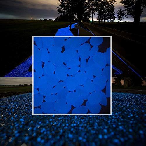 Pietre fosforescenti, ciottoli fosforescenti per laghetti da giardino, Materiale luminoso per esterno, ghiaia di acquario, pietre fosforescenti ornamentali, Grossi ciottoli luminosi acquario, 300 pz