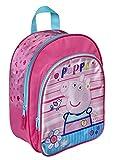 Kinderrucksack Kindergartentasche Kindergartenrucksack mit Vortasche Lizenz Rucksäcke Motiv George Peppa Pig Wutz - für Mädchen im Kindergarten oder Kita Geschenk Idee Ostern Geburtstag