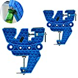 XCMAN Ski Snowboard Vise for Tuning,Waxing and Repair,Set of Non-Slip Vice Grips with Horizontal and Vertical and Tilt Working Positions,Rubber Ski Brake Retainers,Pair