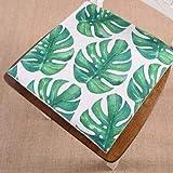 BAIF Pads Memory Foam Stuhlkissen Sitzkissen Green Leaf von Tropical Palm Telopea Monstera ceriman 40x40cm Wohnkultur Ding (Farbe: D)