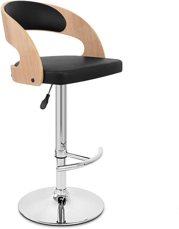 LYXPUZI Barhocker Bar Chair bar Stool bar Stool redary Chair Fabric backrest bar Chair Wooden high Stool Frühstücksschemel (color   C)
