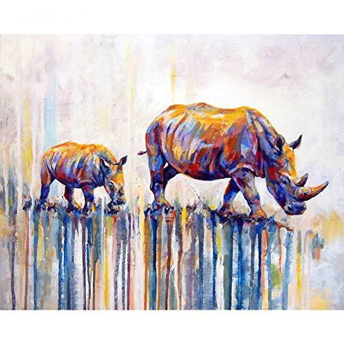 DFGDFG DIY Leinwand für Erwachsene Zahlen Leinwand Wandbild Vieh Pflege Erwachsene Anfänger mit Pinseln und Acrylpigment Wandkunst Kunstwerk 16 * 20 Zoll