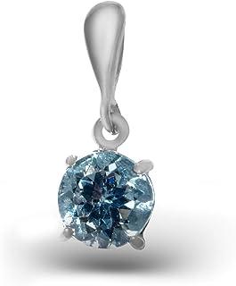 Pendentif argent 925 sterling topaze bleue NO:MAH 132-62
