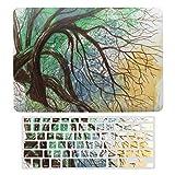 Funda para MacBook Air 13 A1466, A1369, carcasa rígida de plástico y cubierta de teclado compatible con MacBook Air 13, árbol sobre un río portátil, juego de carcasa protectora