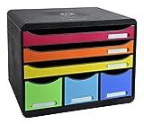 Exacompta Storebox Maxi Harlekin mit 6 Schubladen / Stapelbare Schubladenbox im Querformat für mehr...