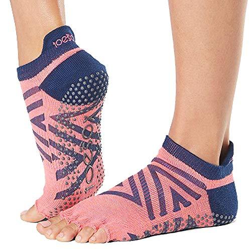 ToeSox dames Low Rise Half Grip Anti-slip voor Ballet, Yoga, Pilates, Barre Toe Sokken, Fame, Klein