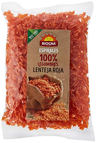 Biográ Espiral De Lentejas Rojas Biogra Bio Biográ, 250 g