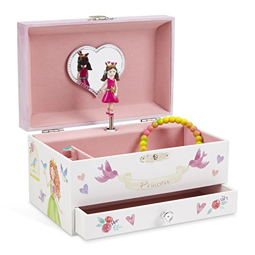 Jewelkeeper Unicorn Musical Jewelry Box, Fairy Princess Hearts and Castle Design with Pullout Drawer, Dance of The Sugar Plum Fairy Tune