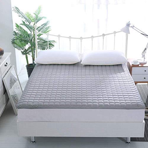 ZXYY Matrasbeschermhoes dunne opvouwbare draagbare wasbare eenkleurige matrasnaad buigen anti-slip sprei - paars 120x200cm (47x79inch)
