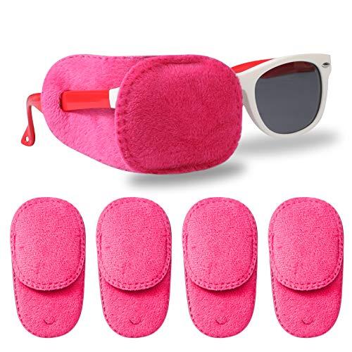 Hifot Parches Ojos niños 4 Piezas, Parches para Gafas niños Ojo vago Terapia Visual oclusión Ocular